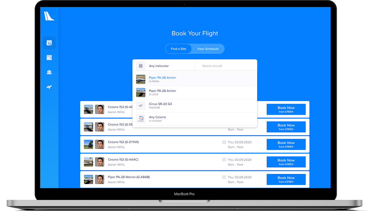 Tailplane - Scheduling Platform for Pilots and Students